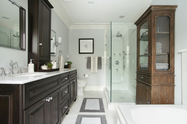 Traditional Bathroom by Diane Durocher Interiors