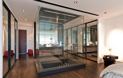 Ideas from 7 Bathrooms That do Glass Partitions to Great Effect