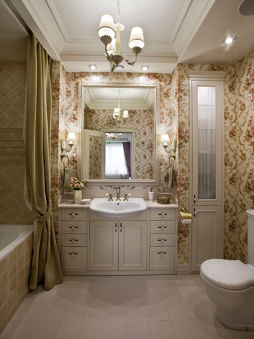 Bathroom design ideas renovations photos with beige for Two piece bathroom ideas