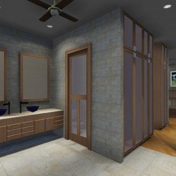Texas Bluebonnets House in East Texas