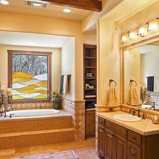 Traditional Bathroom by Jennifer Garner, RID
