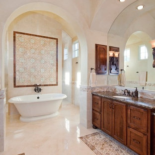 Inspiration for a mediterranean bathroom remodel in Austin