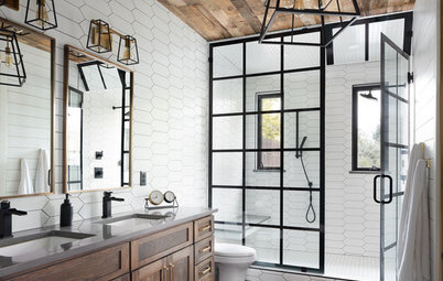 Bathroom of the Week: Warm Industrial-Farmhouse Style in Colorado
