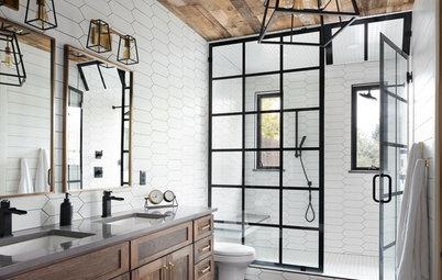 Bathroom of the Week: Warm Industrial-Farmhouse Style in Colorado