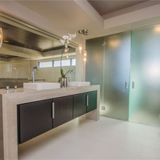 modern bathroom by Two Trails | Green Building Consulting