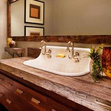 Rustic Bathroom by Westlake Development Group, LLc
