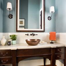 Transitional Bathroom by Westlake Development Group, LLc