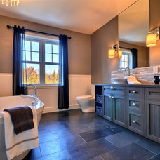 Transitional Bathroom by Melyssa Robert Designer