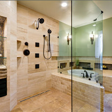 Contemporary Bathroom by Ancora Stone and Tile LLC