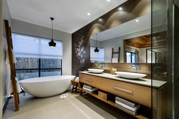inspirations pour une déco asiatique dans la salle de bain.. salle ... - Salle De Bain Asiatique