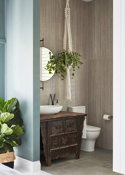 Tropical Bathroom by The Designory