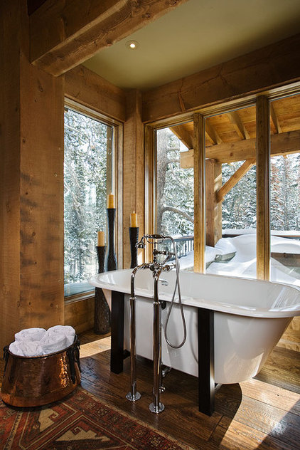 Contemporary Bathroom by Teton Heritage Builders