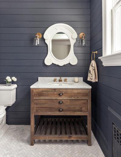 Transitional Bathroom by Birgitte Pearce Design