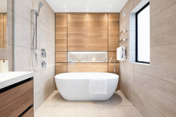 Contemporary Bathroom by Tile Space New Zealand