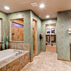 Tropical Bathroom by Oakwood Homes