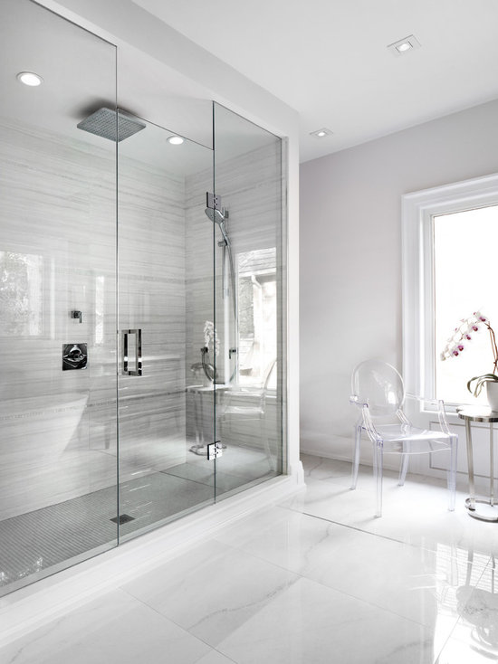 Tumbled Marble Travertine Tile Shower Houzz