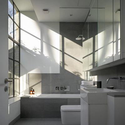coole trendfarbe im bad: 11 bäder in grautönen, Hause ideen