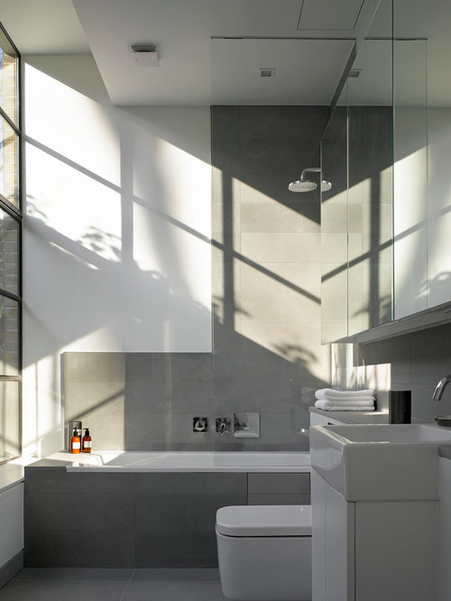 SaveEmail. Houzz   Modern Gray Bathroom Design Ideas  amp  Remodel Pictures