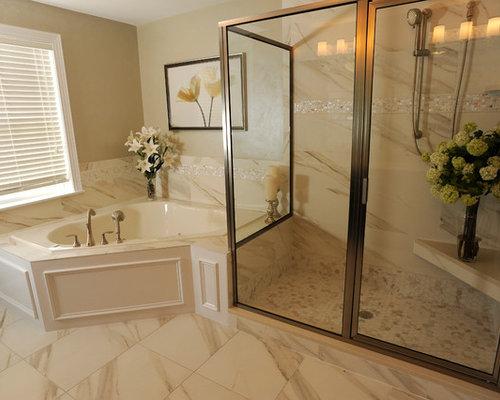 Badezimmer mit eckbadewanne und duschnische design ideen for Badezimmer ideen eckbadewanne