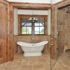 Rustic Bathroom by Buchanan Construction