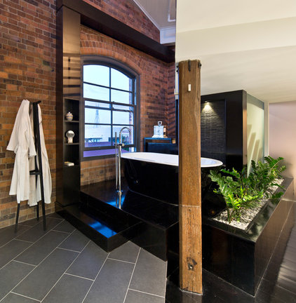 Industrial Bathroom by TONIC Design