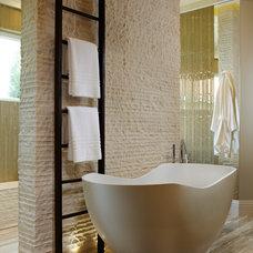Transitional Bathroom by Marc Rutenberg Homes