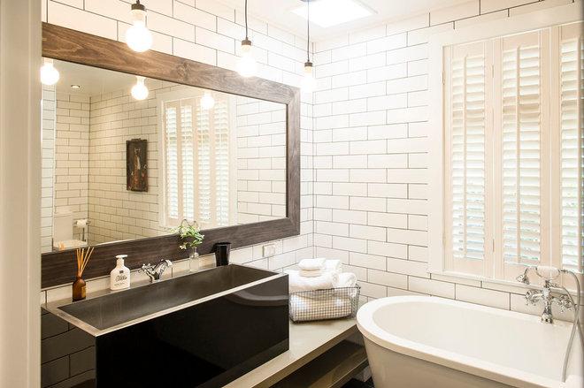 Transitional Bathroom by Bridget Cooper Interiors