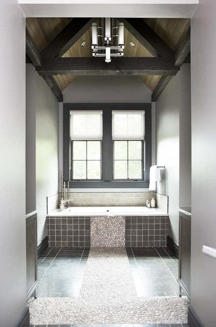 Rustic Bathroom by Linda McDougald Design | Postcard from Paris Home