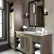 Rustic Bathroom by Linda McDougald Design | Postcard from Paris Home