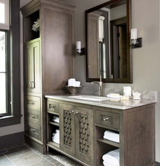 eclectic bathroom by Linda McDougald Design | Postcard from Paris Home
