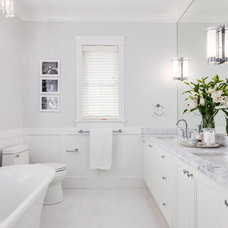 Transitional Bathroom by Sarah Gallop Design Inc.