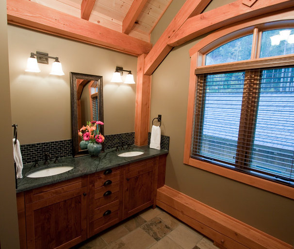 Traditional Bathroom by Ursus Mountain Homes of Revelstoke