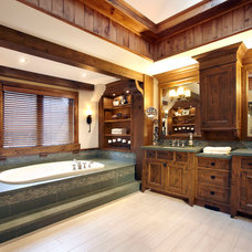 Rustic Bathroom by Parkyn Design