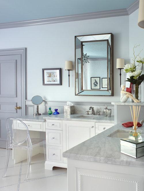salle de bain avec un lavabo encastr et un bidet photos et id es d co de salles de bain. Black Bedroom Furniture Sets. Home Design Ideas