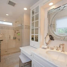 Traditional Bathroom by alyse miller/The Elegant Armoire inc.