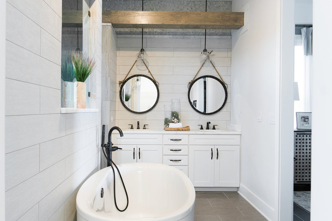 Beach Style Bathroom by True Design Studios