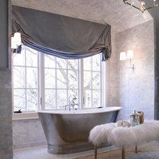 Farmhouse Bathroom by Dovetail Homes