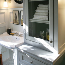 Farmhouse Bathroom by Dovetail Homes