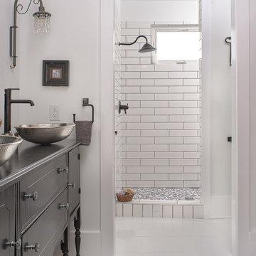 The Farmhouse Master Bathroom- Design by Dawn D Totty Design Jasper Highland