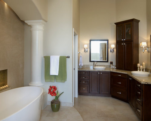 Corner Double Vanity | Houzz