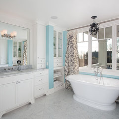 eclectic bathroom by Kristi Spouse Interiors