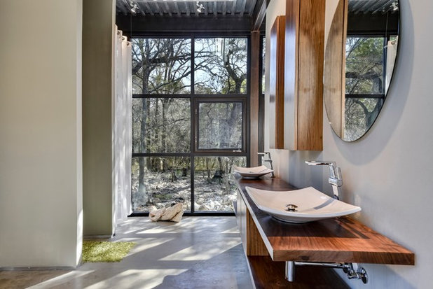 Industrial Bathroom by Dupont Cabinetry & Design