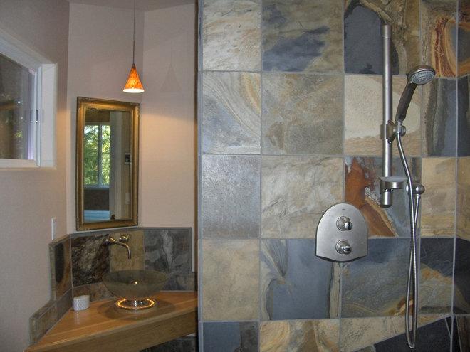 Contemporary Bathroom by Xenia Jordan @ Xenia's Studio