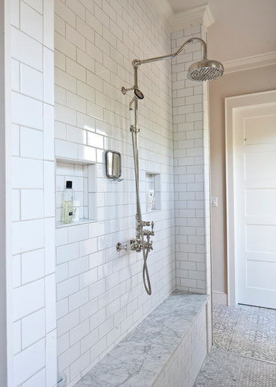 Farmhouse Bathroom by Godsey Homes