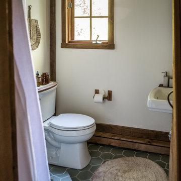The Hunter Houses Hexagon Tile Bathroom