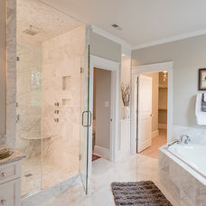 Craftsman Bathroom by Biringer Builders Inc