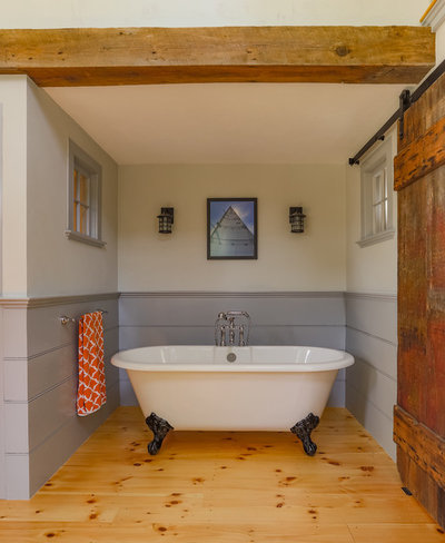 Farmhouse Bathroom by Cummings Architects
