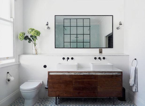 Transitional Bathroom by SJW Architects Ltd.