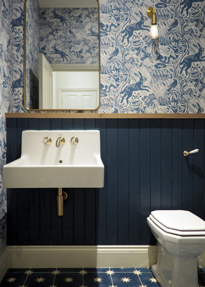 Transitional Bathroom by SJW Architects Ltd.