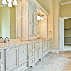 Transitional Bathroom by Joseph Paul Homes